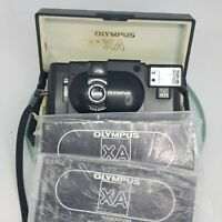 +TESTED+OUTSTANDING+Olympus XA 35mm Compact Rangefinder Film Camera+CASE+MANUAL