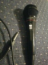 Philips Ph62080 Dynamic Cable Microphone Tested Working 10' Cord Mono On Off