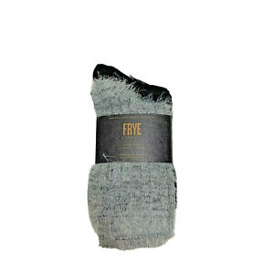 Frye 2 pair of womens boot socks solid black fuzzy gray  shoe size 5-10 soft