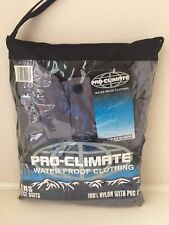 Mens Pro-climate Waterproof Two Piece Suit XXL Black And Gray Golf,fishing New