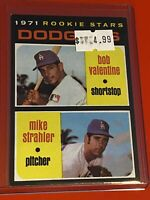 1971 Topps Baseball Card Set #188 Los angles DODGERS ROOKIES RC BOBBY VALENTINE
