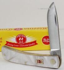 Kissing Crane Unique Pearl Folding Pocket Farmer Knife