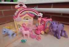 MY LITTLE PONY RAINBOW DASH'S HOUSE,TRAIN AND FIVE PONIES