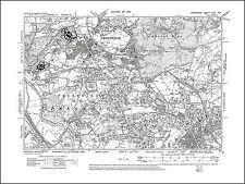 Old map of Manchester (NW), Prestwich, Lancashire 1910: 96SW repro