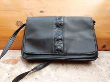 Leder Schulter Tasche,Scwarz,27x17cm