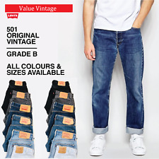 VINTAGE LEVIS LEVI 501 GRADE 'B' MENS DENIM JEANS W30 W32 W33 W34 W36 W38 W40
