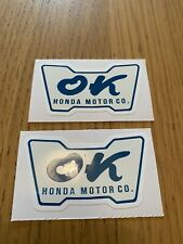 "2x ""Ok Honda"" Replica Sticker. Civic, Integra, S2000, Jazz,NSX, CRX, Type R. JDM"