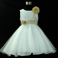 Easter Christening Wedding Flower Girls Party Dresses AGE 1-2-3-4-5-6-7-8-10-12Y
