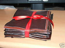 20 Leather pieces, Mixed bundle of brown leathers 20 pieces 13cm x 14cm