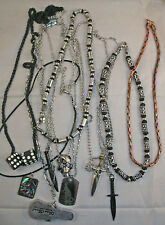 NECKLACES - 5 x assorted Men's styles - $1 each