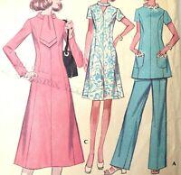 McCalls Pattern 2748 Misses Half Size Dress Top Pants 18.5 Uncut FF 1970s
