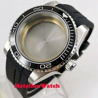 40mm watch case ceramic bezel sapphire glass fit ETA 2836 Miyota 8215 movement
