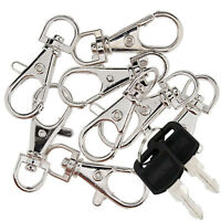 10 Pcs Lobster Clasp Swivel Trigger Clip Snap Hook Bag Car Key Rings Keychain