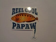 "Fishing Box or Car vinyl Sticker "" REEL COOK PAPAW """
