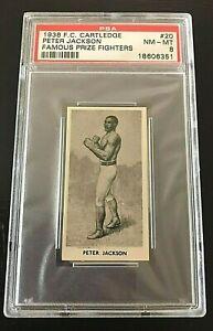 Peter Jackson 1938 F.C. CARTLEDGE Famous Prize Fighters #20 PSA 8 NM - MT.