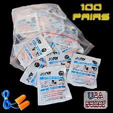 Corded Disposable Foam Ear Plugs (NRR 32) Individually Packaged 100 JORESTECH