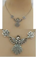 Silver Angel Pendant Necklace Jewelry Handmade NEW Accessories Adjustable Chain