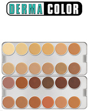 KRYOLAN Dermacolor 24 Colour Creme Camouflage Palette - DM ,unused but bit messy