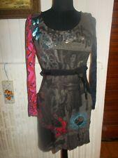 Robe  manches longues noir imprimé femme papillons strass DESIGUAL M 36/38