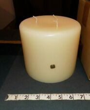 Partylite 6x5 Citrus Bloom Citronella 3 Wick Large Candle Ivory White