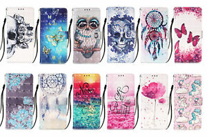 For Samsung S21 S20 S8 S9 Plus S10E 3D PU Leahter Flip Wallet Case Phone Cover