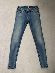 Women's Ladies Replay Alanies Hyperflex Skinny Jeans W25 L30 (D74)