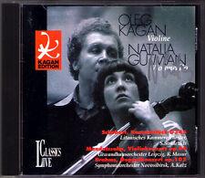 Natalia Gutman signé BRAHMS Double Concerto MENDELSSOHN Oleg Kagan Masur CD