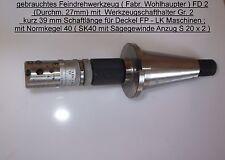 Innenfeindrehwerkzeug D27 SK40 S20x2 Deckel Fräsmaschine Spannwerkzeug FP Drehen