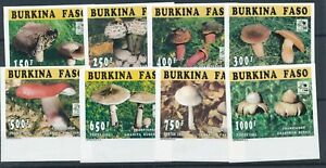 [21850] Burkina Faso 1995 mushrooms good imperf set very fine MNH stamps