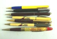 Vintage Lot of 7 Mechanical Pencil Trucking Hennis Esso Dairy
