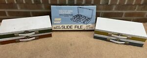 """Logan Metal Deluxe Slide File 200 NEW For 2""""x2"""" Slides Plus 4 Smith Victor cases"""