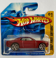 2007 Hotwheels Dodge Challenger Concept Hemi V8 Short Card, Mint! Very Rare!