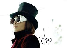 Johnny DEPP Signed Autograph 16x12 Willy Wonka Genuine Photo AFTAL COA