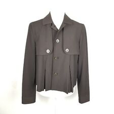 1565737cbb56 Michael Kors Single Breasted Crop Blazer Women Size Small Brown Long Sleeve  Cape