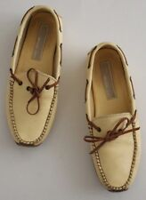 Michael Kors Collection 7 Natural Tan Leather Moccasin Loafers Leather Outsole