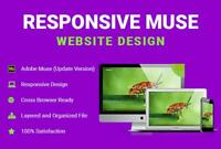 Responsive Adobe Muse Website Design (Gold Package)