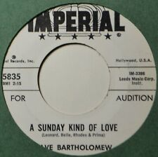 "Dave Bartholomew A Sunday Kind of Love Jazz EX DJ 45 7"" Vinyl  Extras Ship Free"