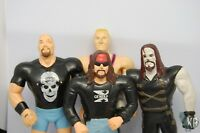 Ljn WWF Wrestling Figures Lot WWE XPAC WCW STONE COLD OWN HART UNDERTAKER