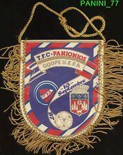 PETIT FANION 10*9 CM TOULOUSE.FC TFC Vs PANIONIOS.GSS GREECE UEFA CUP 1988 RARE