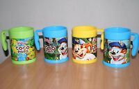 FOUR Kelloggs Coco Pops Picture Change Plastic Drink Juice Cups Mugs Beakers