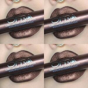 1 OFRA Lipstick Coven x Nikki Tutorials Liquid Makeup Metallic Cosmetics Brown