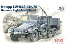 ICM 1/72 Krupp L2H143 Kfz.70 German Light Army Truck # 72451