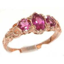 Natural Oval Rose Gold Fine Gemstone Rings