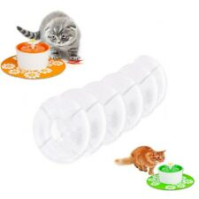 Us 6Pcs Carbon Filters Flower Fountain Replacement Pet Cat Dog Water Drinking
