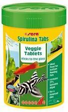 Sera Spirulina Tabs100 Veggie Tablets 60g - Fish Food for Fresh or Marine Fish