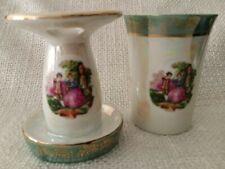 Vintage Lusterware Courting Couple, Bathroom Set, Tooth/Make-up Brush Holder...