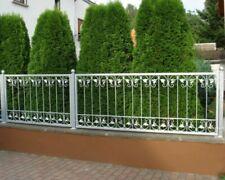 1 meter Schmiedeeisen Metallzaun Gartenzaun Monaco-Z140/200 FeuerVerzinkt Zink