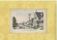 MA Winthrop 1908-15 antique postcard HOMES & VINTAGE CAR ON JOHNSON AVE MASS