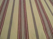 POTTERY BARN SERAPE RED TAN STRIPE F/QUEEN DUVET WITH 2 STANDARD SHAMS