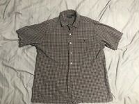 Polo Ralph Lauren Button Down Short Sleeve Shirt Plaid Men's L